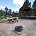 Cabins at South Bay Campground, Horsetooth Reservoir County Park.- South Bay Campground
