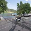 Boat ramp at South Bay Day Use Area, Horsetooth Reservoir County Park.- South Bay Day Use Area + Swim Beach