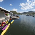Marina at Inlet Bay Campground, Horsetooth Reservoir County Park.- Inlet Bay Campground