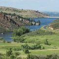 View of Horsetooth Reservoir's Dixon Cove.- Stout, Sawmill + Nomad Trail Loop