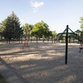 Playground and picnic area at North Lake Park.- North Lake Park