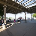Concessions, restrooms and picnic shelter at Boyd Lake Swim Beach.- Boyd Lake Swim Beach