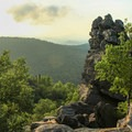Sunset at the Chimney.- Chimney Mountain