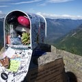Inside the mailbox.- Mailbox Peak via the New Trail