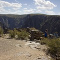 The overlook at Kneeling Camel in the Black Canyon of the Gunnison National Park.- North Rim Road