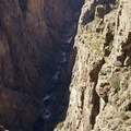 The canyon floor of the Black Canyon of the Gunnison.- North Rim Road