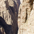 The quartz monzonite cliffs at Black Canyon of the Gunnison.- North Rim Road