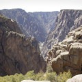 The Black Canyon of the Gunnison, seen from the Painted Wall Overlook.- South Rim Road
