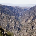 The depths of the Black Canyon of the Gunnison as seen from Sunset View.- South Rim Road