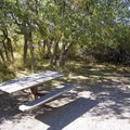 A typical site at South Rim Campground at Black Canyon of the Gunnison.- South Rim Campground
