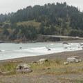 Looking north toward Wilson Creek Beach.- Lagoon Creek Beach