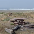 All the picnic tables have views of the beach and ocean.- Crescent Beach