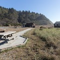 Picnic areas and restrooms are right along this beach.- Redwood Creek Beach + Picnic Area