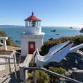 Memorial Lighthouse replica of the Trinidad Head Lighthouse.- Old Home Beach