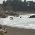 The highway runs adjacent to this beach.- Wilson Creek Beach + Picnic Area
