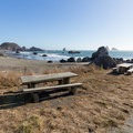 Closest picnic table to the beach.- Lone Ranch Beach + Picnic Area