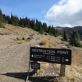Obstruction Point parking area.- Grand Pass Loop
