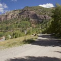 Route 648, the trail to Bridal Veil Falls.- Bridal Veil Falls, Telluride