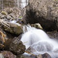 A small cascade at the base of Bridal Veil Falls.- Bridal Veil Falls, Telluride