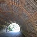 This beautiful tunnel leads under Well House Drive.- Prospect Park