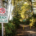 Trail to the beach from the south parking lot.- Chesterman Beach
