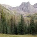 Peaks along the Needle Creek Trail to the Chicago Basin.- Chicago Basin