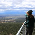 View from the Green Mountain Lookout Tower.- Green Mountain Campground