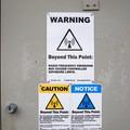 Green Mountain Fire Lookout Tower warnings.- Green Mountain Fire Lookout Tower