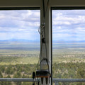 View from within the Green Mountain Fire Lookout Tower.- Green Mountain Fire Lookout Tower