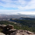 Clouds covering the plains.- First + Second Flatiron Trail