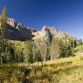 Peaks surrounding the Chicago Basin in the Weminuche Wilderness.- Windom Peak