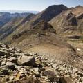 Mount Eolus (14,083 ft) from the summit of Windom Peak.- Windom Peak