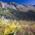 Looking east toward Columbine Pass from the Twin Lakes Trail.- Windom Peak
