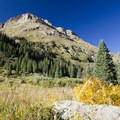 The flank of Mount Eolus (14,083 ft) above the Chicago Basin in the Weminuche Wilderness.- Windom Peak