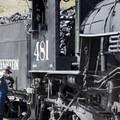 An operator maintains the Durango-Silverton Narrow Gauge Railroad.- Durango-Silverton Narrow Gauge Railroad