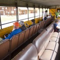 Seating in the open-air gondolas on the Durango-Silverton Narrow Gauge Railroad is communal.- Durango-Silverton Narrow Gauge Railroad