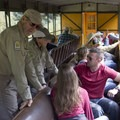 Volunteers from the San Juan Mountains Association are on-hand on the Durango-Silverton Narrow Gauge Railroad to assist backpackers heading into the Weminuche Wilderness.- Durango-Silverton Narrow Gauge Railroad