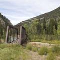 An old trestle along the Durango-Silverton Narrow Gauge Railroad.- Durango-Silverton Narrow Gauge Railroad