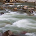 The roaring waters of the Animas River.- Durango-Silverton Narrow Gauge Railroad