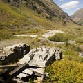 Remains of the Green Mountain Mill in Cunningham Gulch.- Cunningham Gulch