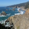 View of China Beach, also accessed from the same trailhead.- North Island Viewpoint