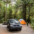 Car camping at Green Point Campground.- Green Point Campground