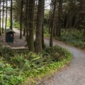The trail down to Long Beach.- Green Point Campground
