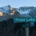 Turn to Lake Hope Road.- Lake Hope