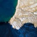 Aerial view of the lake shore.- Lake Hope