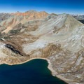 Aerial view of the lake and Vermillion Mountain.- Lake Hope
