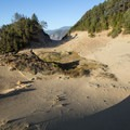The Oregon Coast Trail passes right through the Indian Sands dunes.- Indian Sands