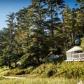 Beachfront yurts.- Wya Point Resort Campground