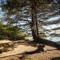 Beachfront camping.- Wya Point Resort Campground