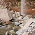 Pools at the base of Cornet Creek Falls.- Cornet Creek Falls